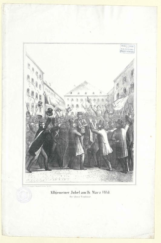 Allgemeiner Jubel am 16. März 1848. Der kleine Tambour