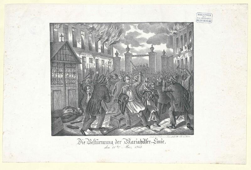 Die Bestürmung der Mariahilfer-Linie den 13ten März 1848