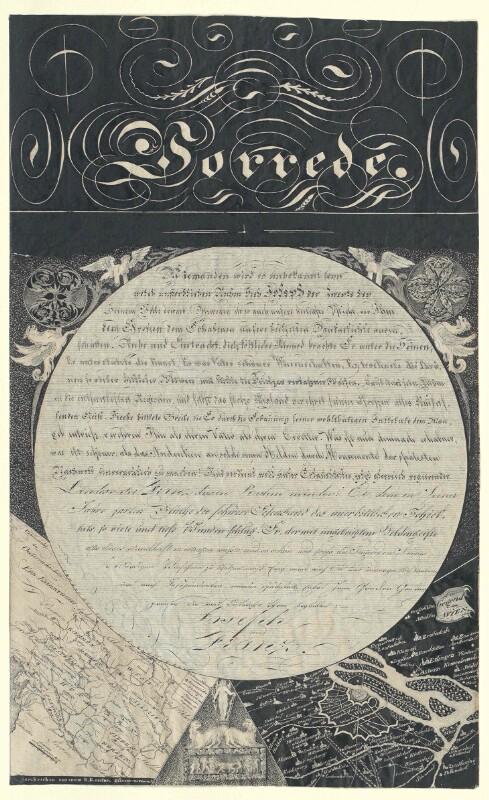 Huldigungsblatt für Kaiser Franz I. und Kaiser Joseph II.