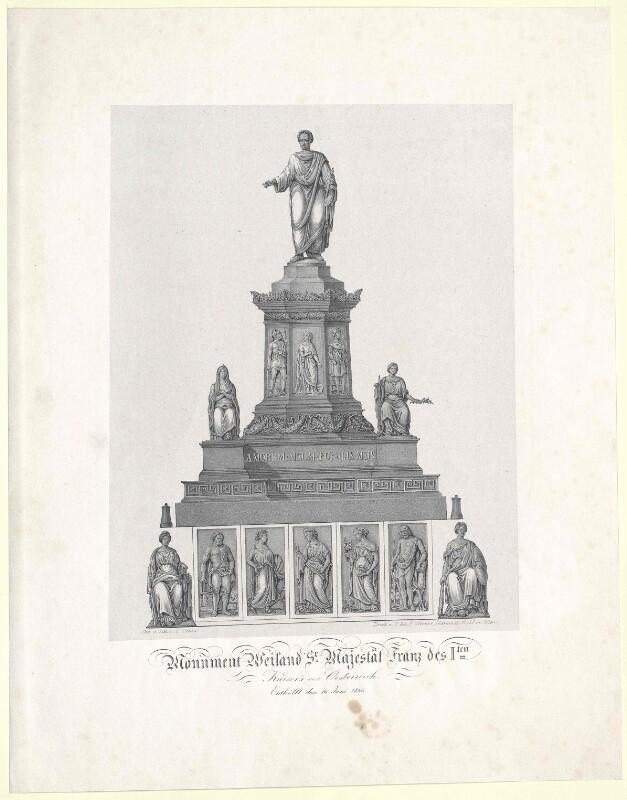 Monument Weiland Sr. Majestät Franz des I.ten Kaisers von Oesterreich. Enthüllt den 16. Juni 1846
