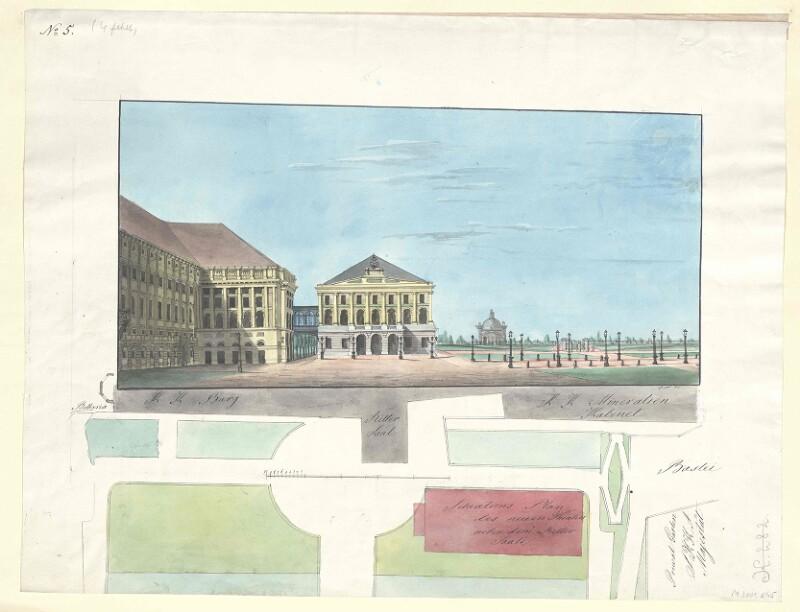 Entwurf für ein neues Opernhaus in Wien, 1851