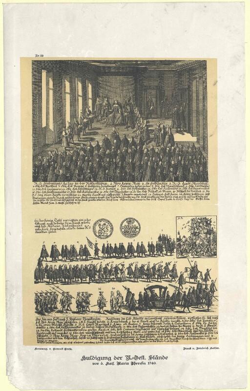 Erbhuldigung Maria Theresias durch die niederösterreichischen Stände, am 22.11.1740 in Wien