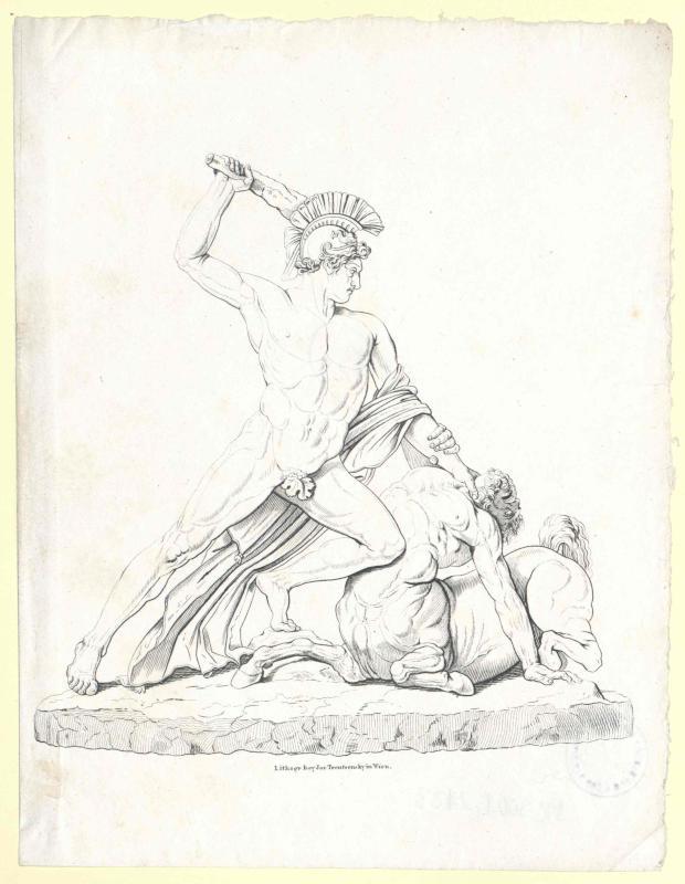 Theseus im Kampf mit dem Kentauren
