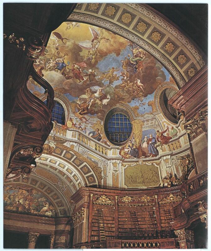 Kuppel des Prunksaales der Östereichischen Nationalbibliothek in Wien
