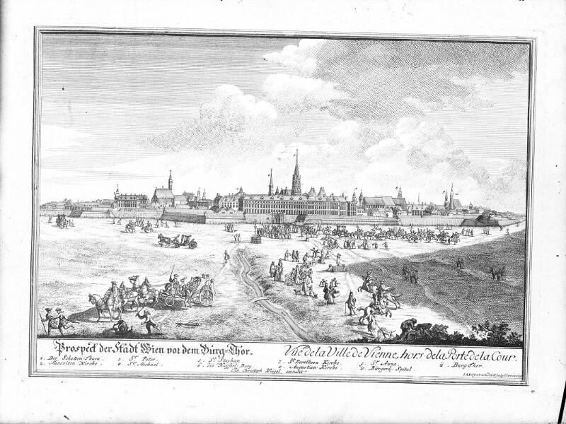 Wien, Panorama 1719