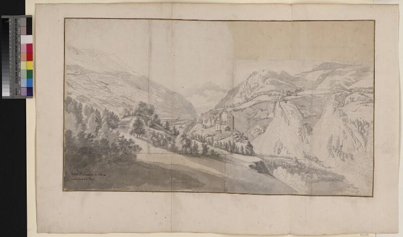 Das Schloss Baldenstein im Domleschg Tal