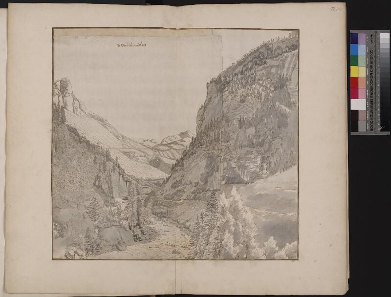 Das Schams-Tal und die Rania-Brücke von Norden