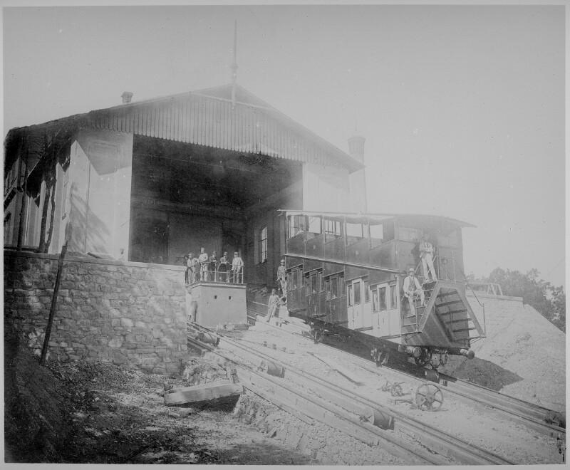 Wien 19, Drahtseilbahn auf den Leopoldsberg