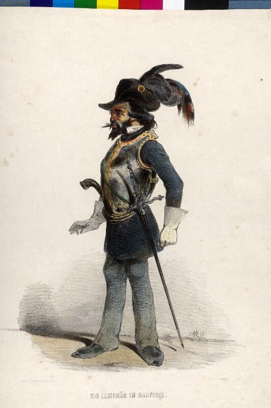 Ein Legionär im Harnisch