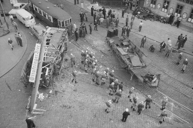 Unfall der Straßenbahnlinie 39 in Döbling