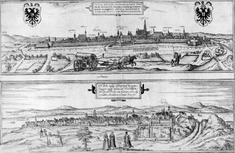 Panoramen von Wien und Buda