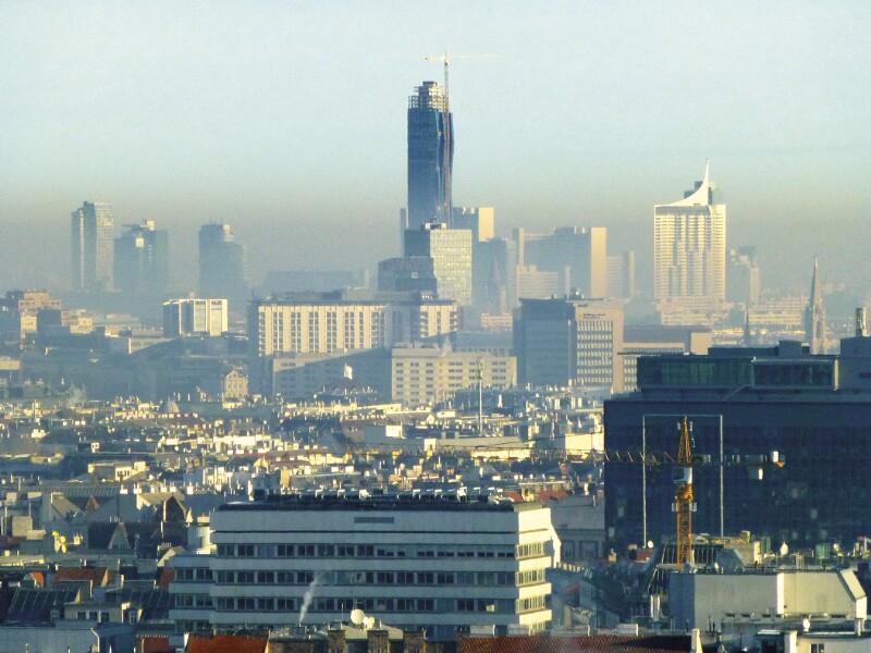 Smog über Wien