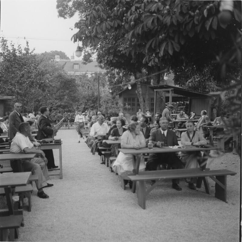 Heurigengarten in Wien