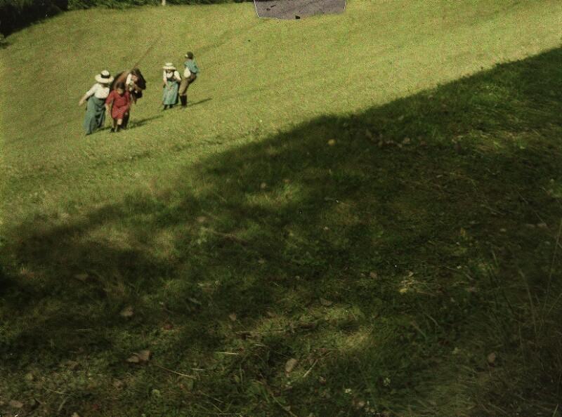 Landschaft mit Wanderern