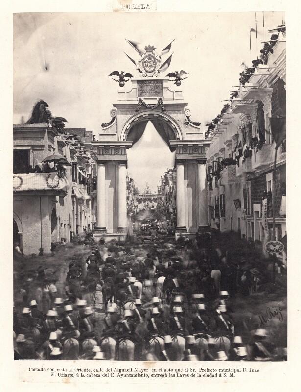 Einzug Kaiser Maximilian von Mexiko in Puebla