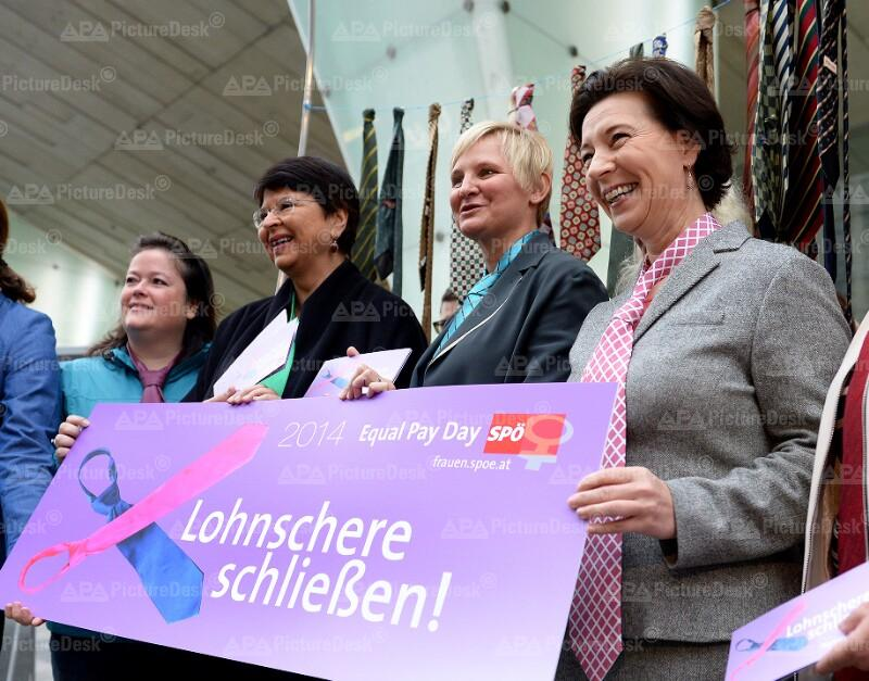 "Aktion der SPÖ-Frauen zum ""Equal Pay Day"""