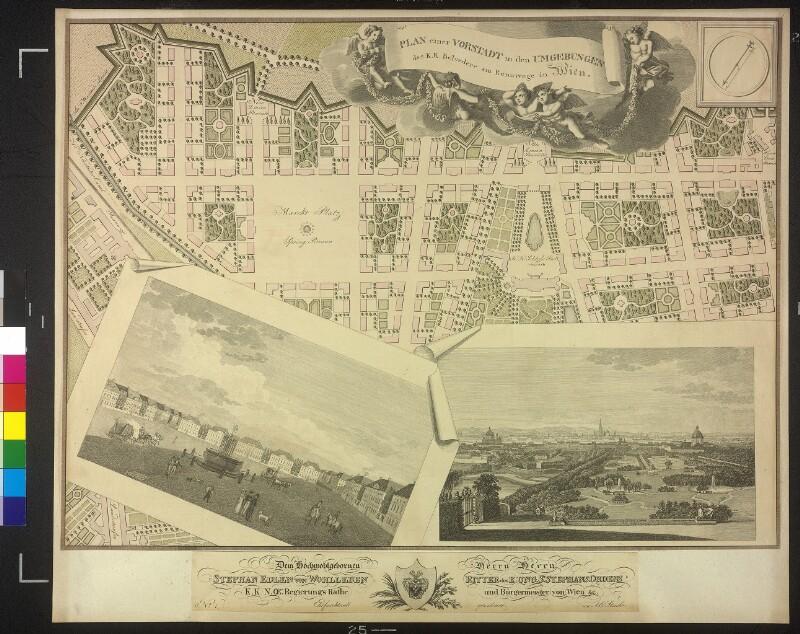 Plan einer Vorstadt in den Umgebungen des k.k. Belvedere am Rennwege in Wien
