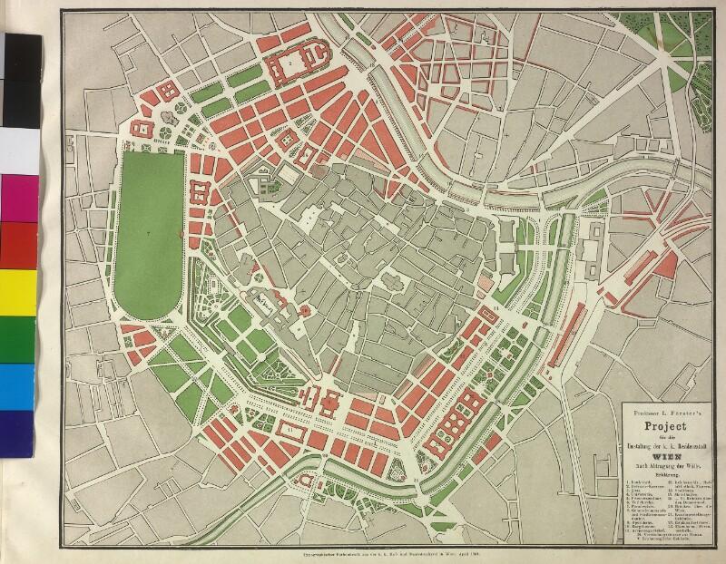 Stadterweiterungsplan des Architekten Ludwig Förster