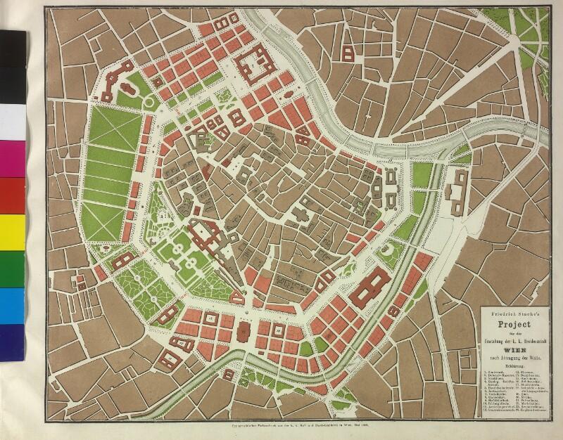 Stadterweiterungsplan von Friedrich von Stache