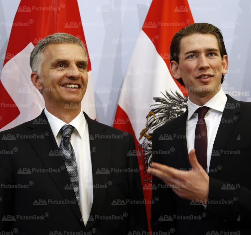 Schweizer Bundespräsident Burkhalter bei Außenminister Kurz