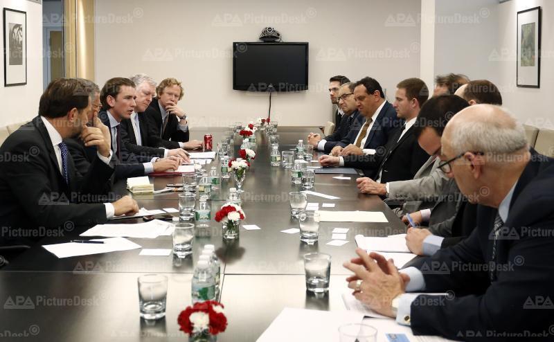Außenminister Kurz bei UNO-Generalversammlung in New York
