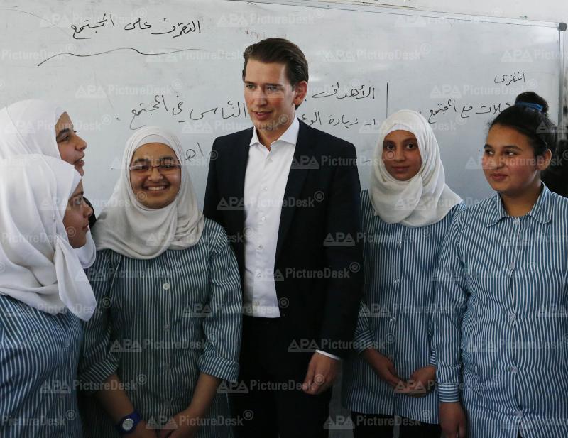 Außenminister Kurz in Palästina