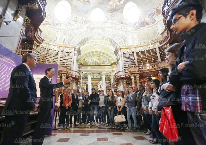 Außenminister Kurz anl. des Europatages in der ÖNB-Ausstellung 'An meine Völker'