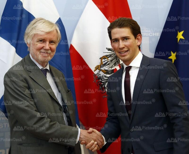 Außenminister Kurz trifft Amtskollegen Tuomioja
