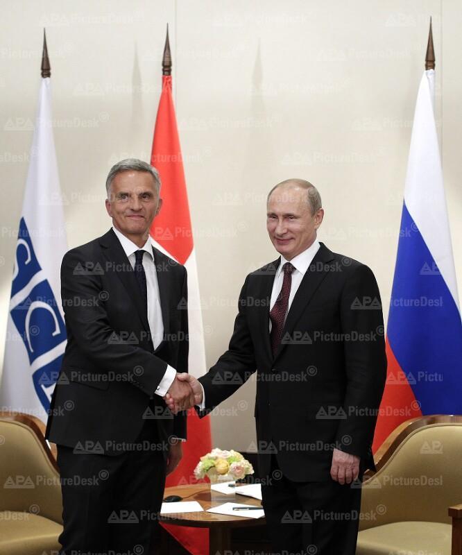 Russischer Präsident Putin in Wien