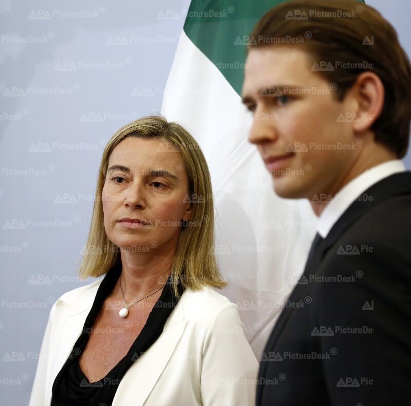 Außenminister Kurz trifft italienische Amtskollegin Mogherini