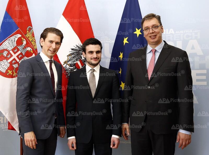 Außenminister Kurz empfängt serbische Minister