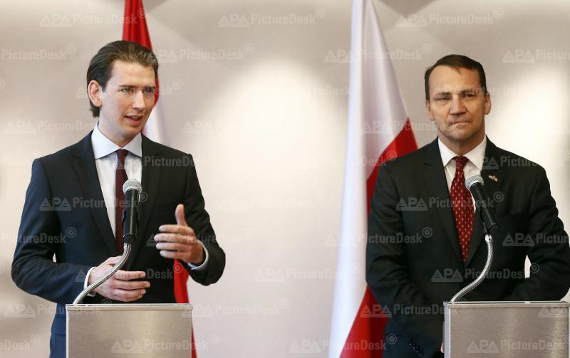 Außenminister Kurz trifft polnischen Amtskollegen Sikorski