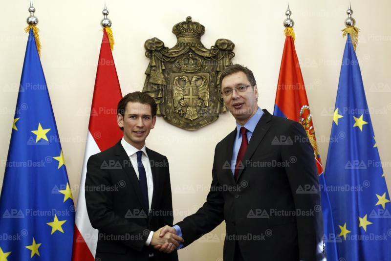 Außenminister Kurz trifft serbischen Premier Vucic