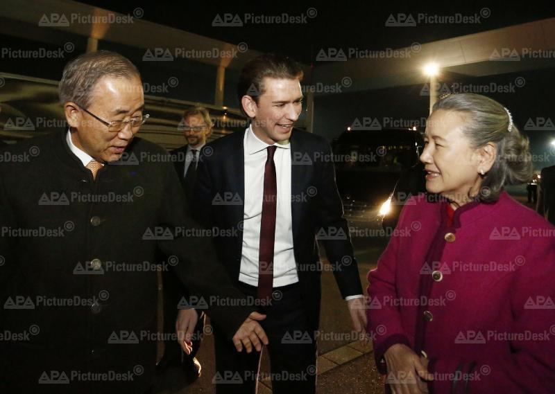 Außenminister Kurz empfängt UN-Generalsekretär Ban Ki-Moon