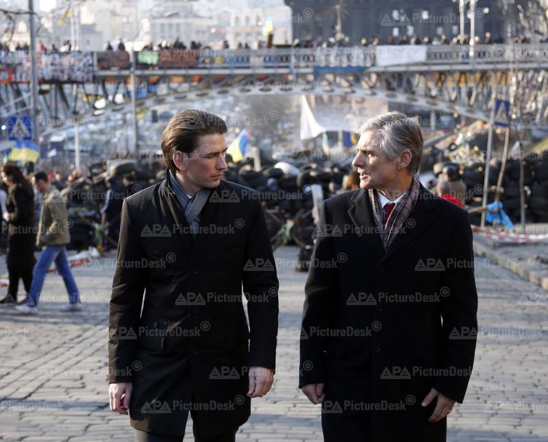 Außenminister Kurz in der Ukraine
