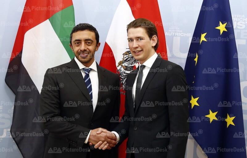 Außenminister Nahyan in Wien