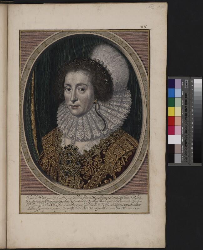 Porträt der Elisabeth von England, Königin von Böhmen