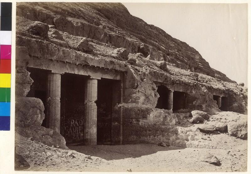 Felsengräber in Beni Hasan., Ägypten