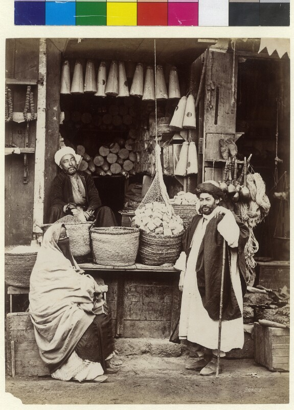 Lebensmittelhändler in Kairo, Ägypten