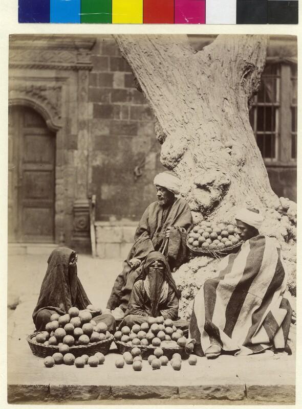 Orangenverkäufer in Kairo, Ägypten