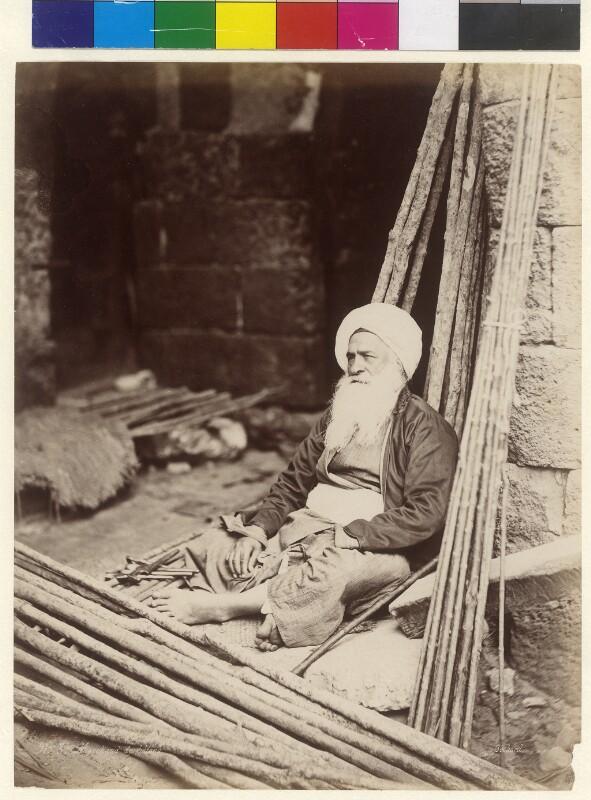 Verkäufer von Stöcken in Kairo, Ägypten