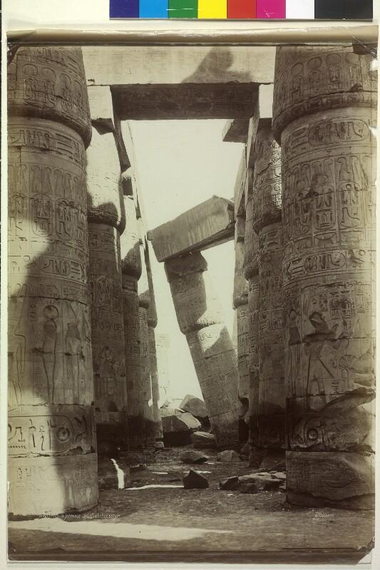 Säulenhalle im Tempel des Amun-Re in Karnak, Ägypten