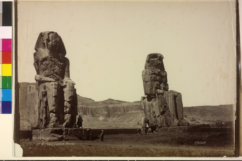 Memnonkolosse in Theben bei Luxor, Ägypten