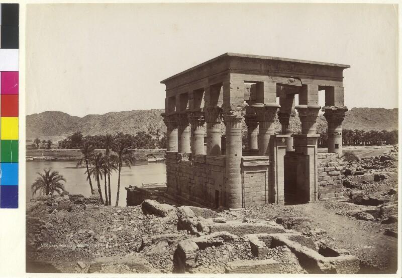 Trajan-Kiosk auf der Insel Philae im Fluss Nil, Ägypten