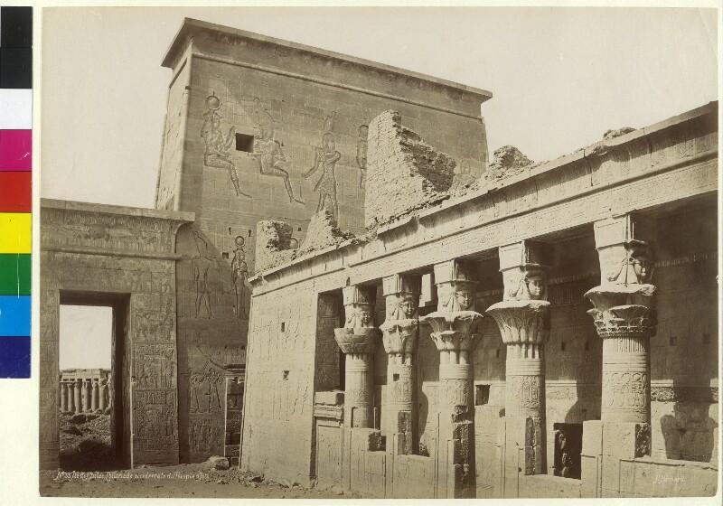 Mammisi des Isis-Tempels auf der Insel Philae im Fluss Nil, Ägypten