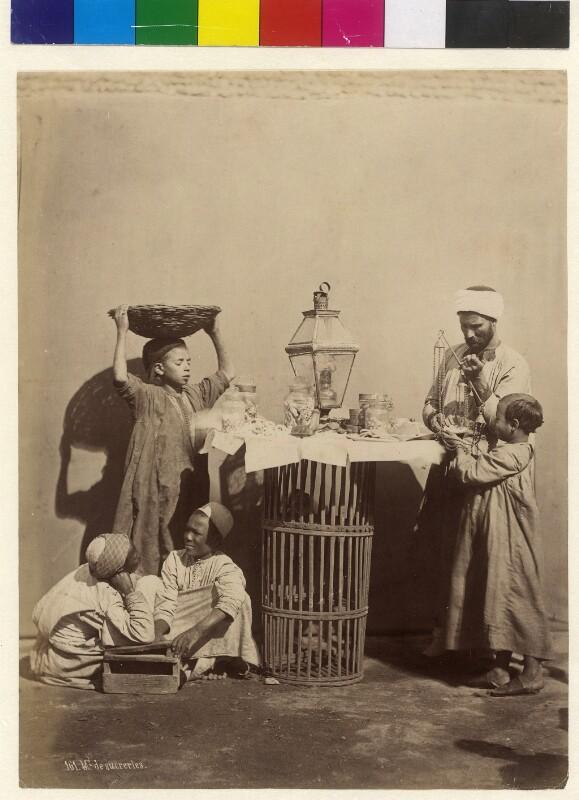 Verkaufsstand mit Süßigkeiten in Kairo, Ägypten