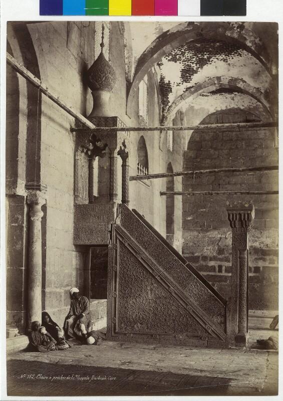 Kanzel der Grabmoschee des Sultan Barquq in Kairo, Ägypten
