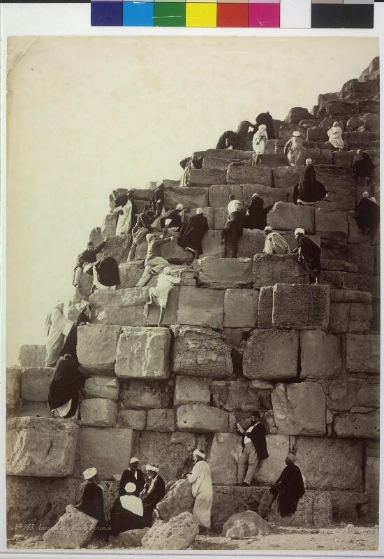 Besteigung der Cheops-Pyramide in Gizeh, Ägypten