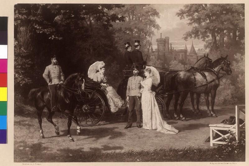 Die kaiserliche Familie im Park von Schloss Laxenburg