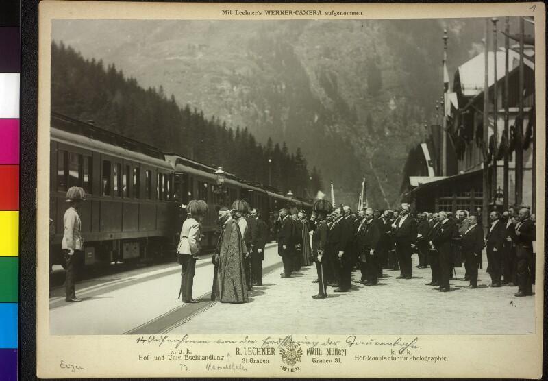 Eröffnung der Südrampe der Tauernbahn Spittal-Bad Gastein.